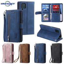 Luxury Flip Leather P40lite Case For Huawei P40 P30 Pro Lite P30pro Retro Zipper Wallet Card Slots Stand Phone Bags Cover Coque