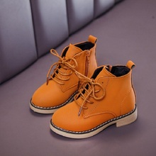 new waterproof shoes winter boys snowboots girls autumn black kids Martin leather boots child 3 4 5 6 7 8 9 10 11 12 years