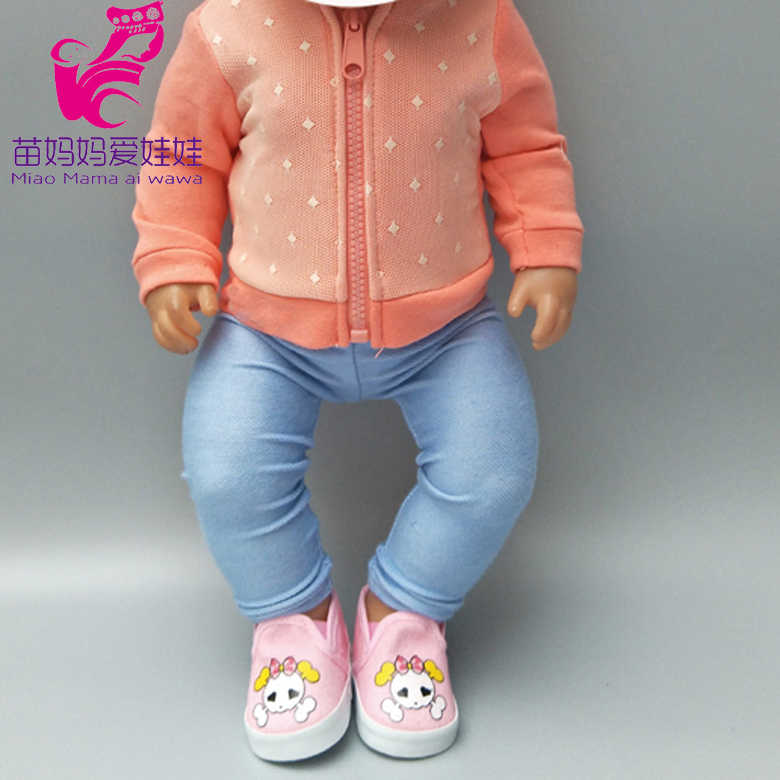 outfit for 43cm Doll Clothes Dress Wear 18 Inch  Baby Doll Jacket Coat for Doll Children New Year Small Gifts