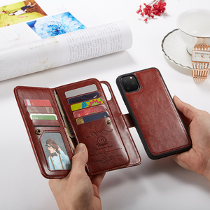 Image 1 - Haissky Detachable Flip Leather Case for iPhone 11 11 Pro Max X Xs Max XR SE 2020 8 7 6 6S Plus 5 5S Magnetic Wallet Phone Case