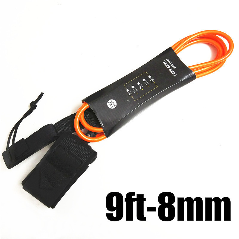 Surf Surfboard Leash 9ft-8mm Leash Para Surf Rope SUP Surfboard Leash Surfing Stand Up Paddle Board Leash