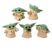 Venda quente animal 5 pçs/set star wars bebê yoda coleção figura de ação brinquedos para presentes de aniversário das crianças