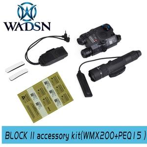 Image 2 - WADSN בלוק III אבזר ערכת כולל LA 5C/PEQ 15 נקודה אדומה לייזר WMX 200 טקטי פנס כפול מתג