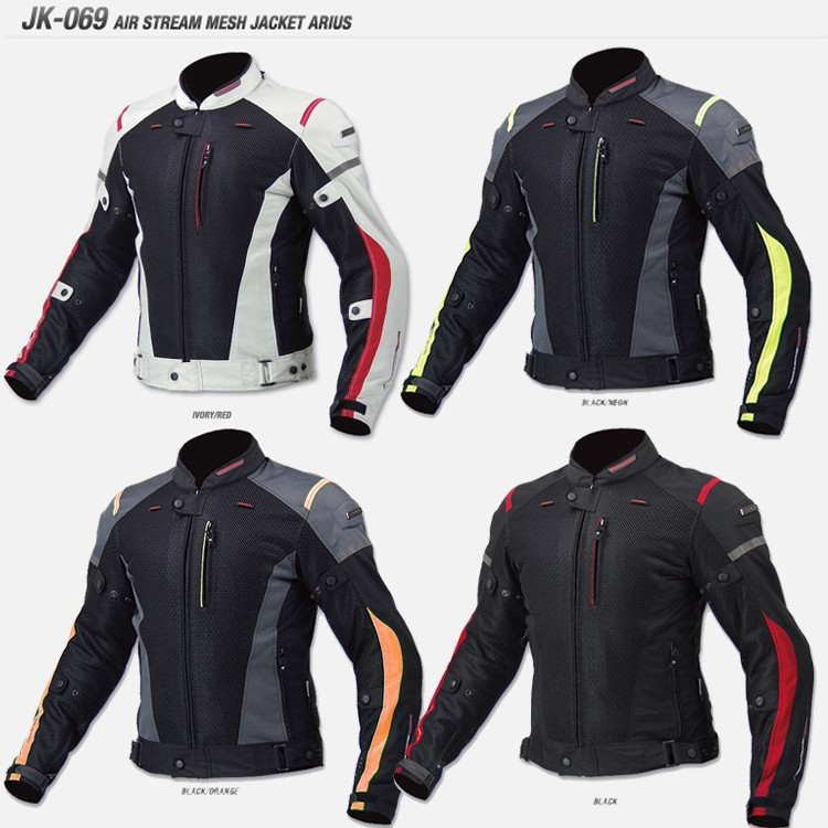 NEW FOR KOMINE JK069 Motorcycle Jacket Summer Mesh Breathable Racing Anti-drop Jacket Men's Riding Jackets