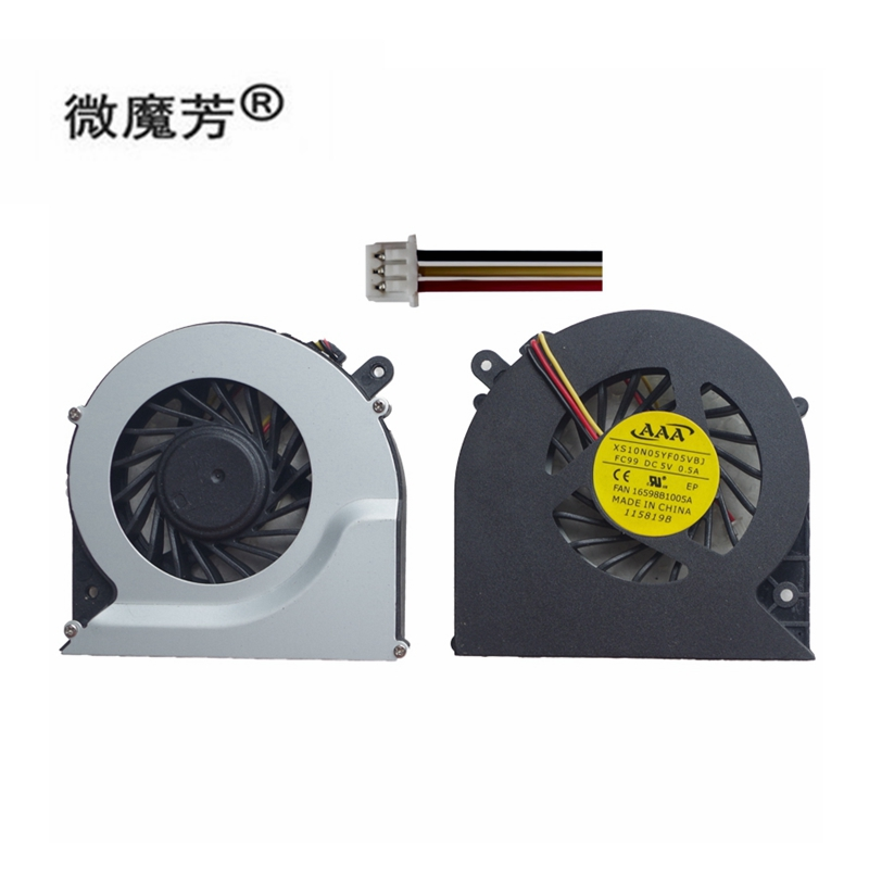 new Laptop cpu cooling <font><b>fan</b></font> for Toshiba for Satellite C850 C855 C870 C875 L850 L870 L870D 3 Pin CPU <font><b>Cooler</b></font> Power <font><b>5V</b></font> 0.5A image