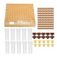 Bienenzucht Tasse kit 100 Zelle Cups Bee Werkzeug Set Königin Aufzucht System Bee Komplette Catcher Käfig Imkerei Helfer|Imkerei-Werkzeug|   -
