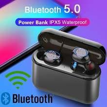 Tws bluetooth 50 наушники вкладыши стерео hifi Спортивная Беспроводная
