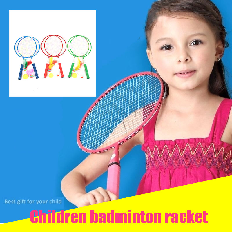 Random Color Movement Portable Badminton Set Practical Baby School Badminton Racket Sports Child Toys Metal Dropshipping