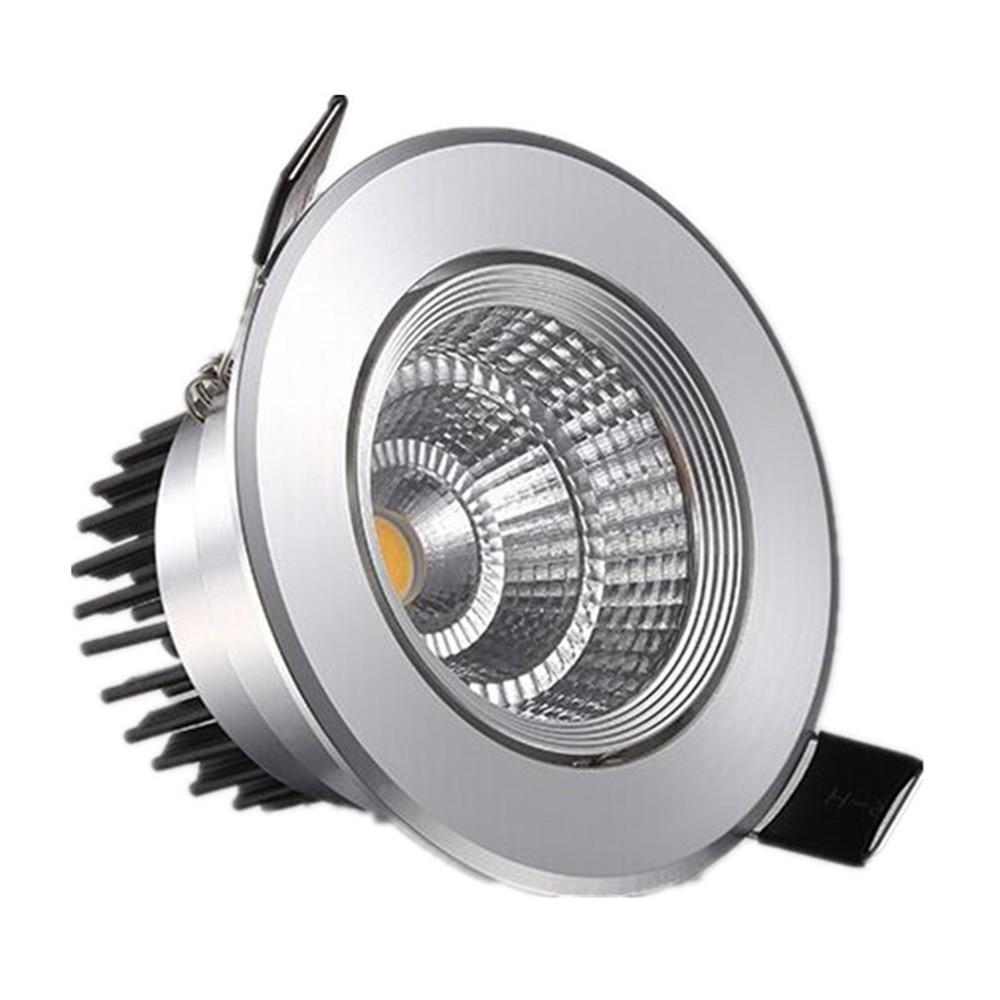 Spotlight Ceiling Light Downlight COB Embedded 85-265V For Home Office Mall Aisle 3W 5W 7W 10W 12W 20W