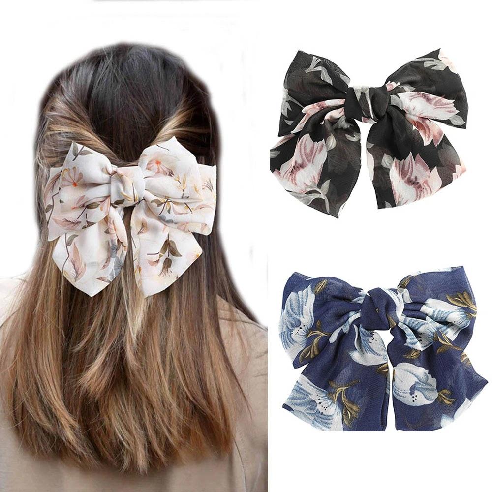 Fashion Big Large Bow Hairpin Hairgrip Women Hair Clip Barrette Hair Accessories