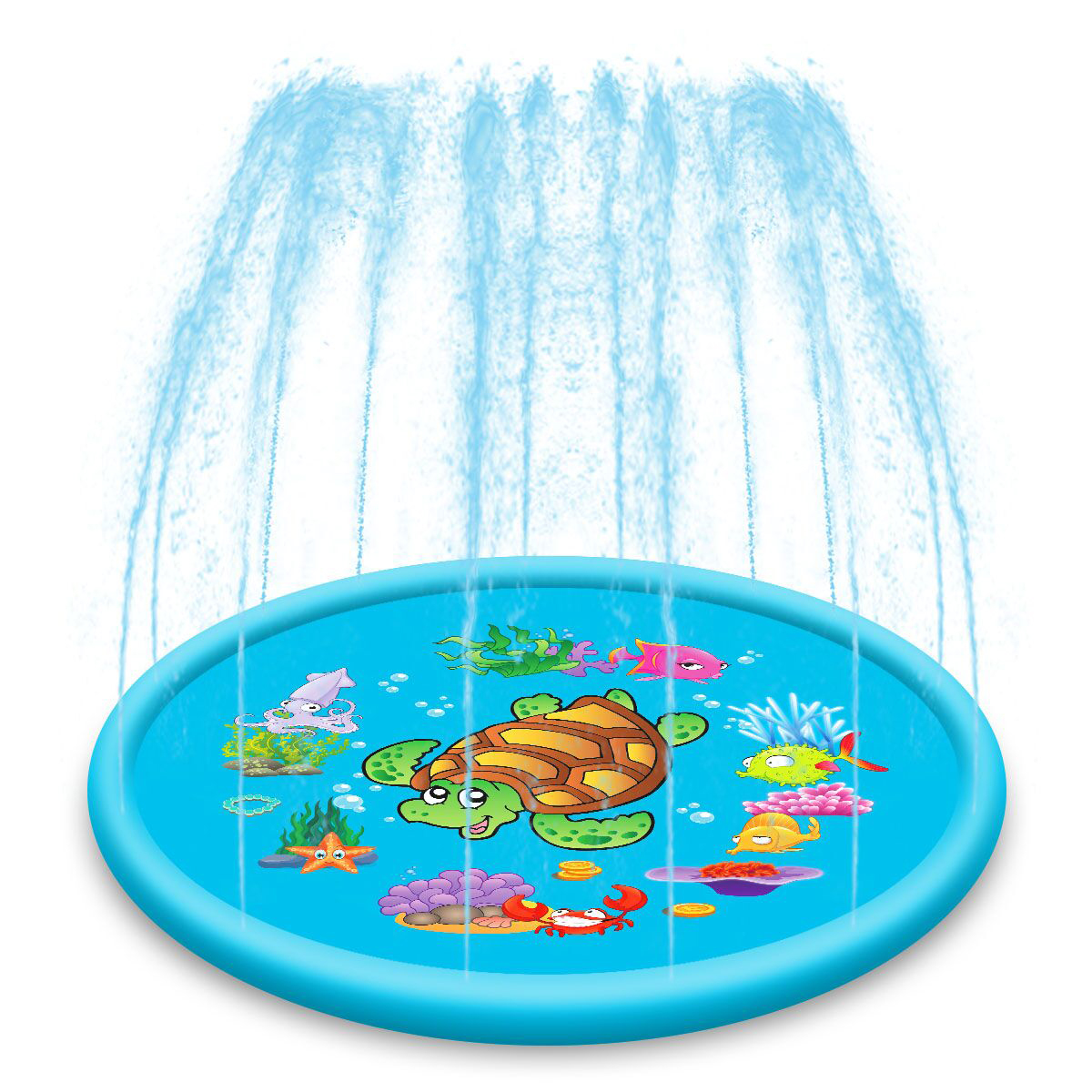 110cm Or 170cm Folding Portable Sprinkler Water Play Mat Outdoor Inflatable Kids Toddler Fountain Play Pad Water Play Equipment