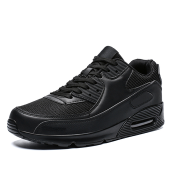 2020 Popular Fashion Casual Shoes for Men Air Cushion Sneakers Man Lace-up Breathable Max Walking Trainer Male Tenis Feminino - Black, 45