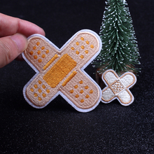 Pulaqi Bandage Patch Embroidery Repair Patches Cartoon Iron On for Clothing Bag Jacket Jeans Small Glue Sticker
