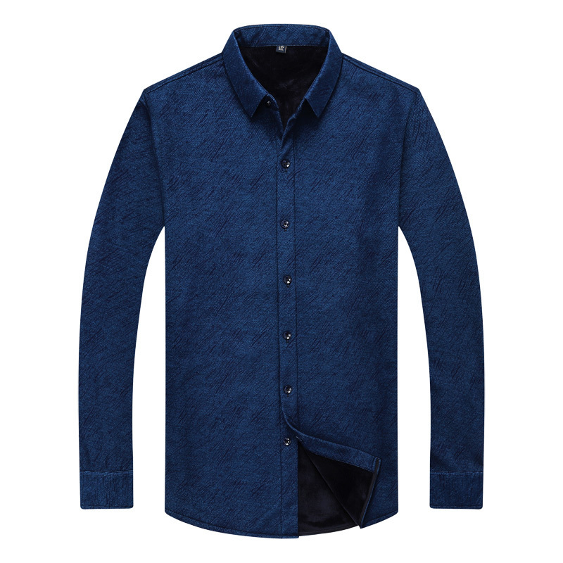 Shirt Men Winter Clothes New Casual Thick Warm Shirt Mens Cashmere Long-sleeved Shirts Simple Streetwear Plus Size 8XL 7XL 6XL