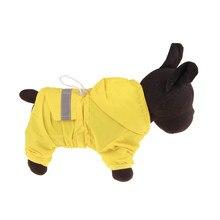 Gato perro impermeable reflectante con capucha cachorro perro pequeño abrigo de lluvia impermeable y transpirable de malla de ropa de perro ropa de lluvia chaqueta al aire libre