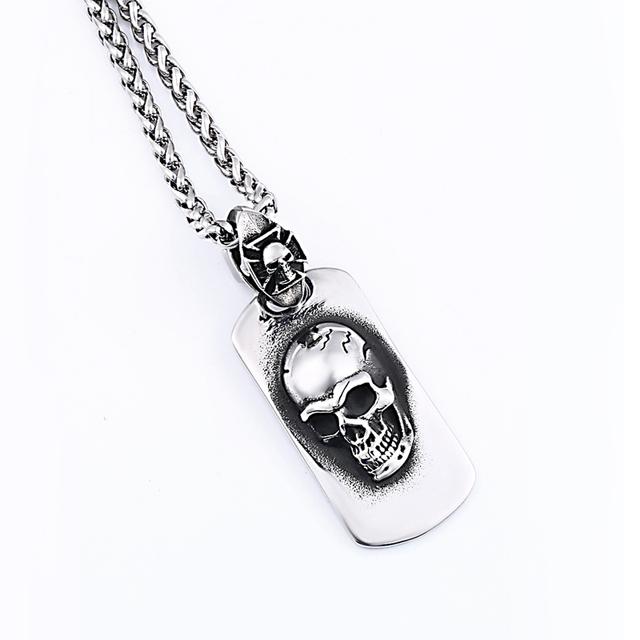 Cute pirate skull pendant necklace