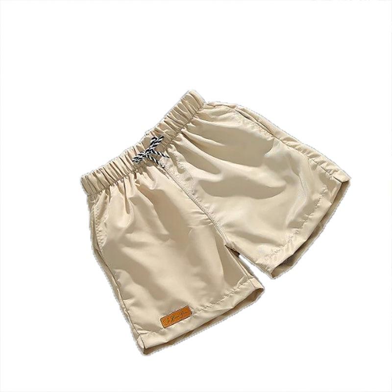 Men Quick Drying Beach Board Short Pants Solid Color Casual Loose Beach Elastic Waist Trunks Swimwear  Daily Beachwear