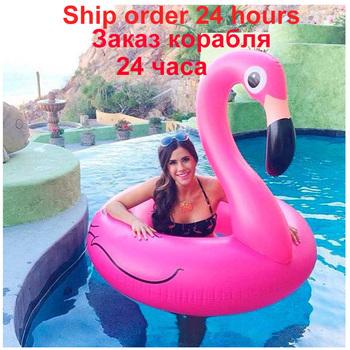 Rooxin 120cm Flamingo dmuchane koło do pływania na basenie dorosłych obręcz do pływania dla dziecka Float pływać koło zabawki do basenu impreza na plaży dostaw tanie i dobre opinie WOMEN