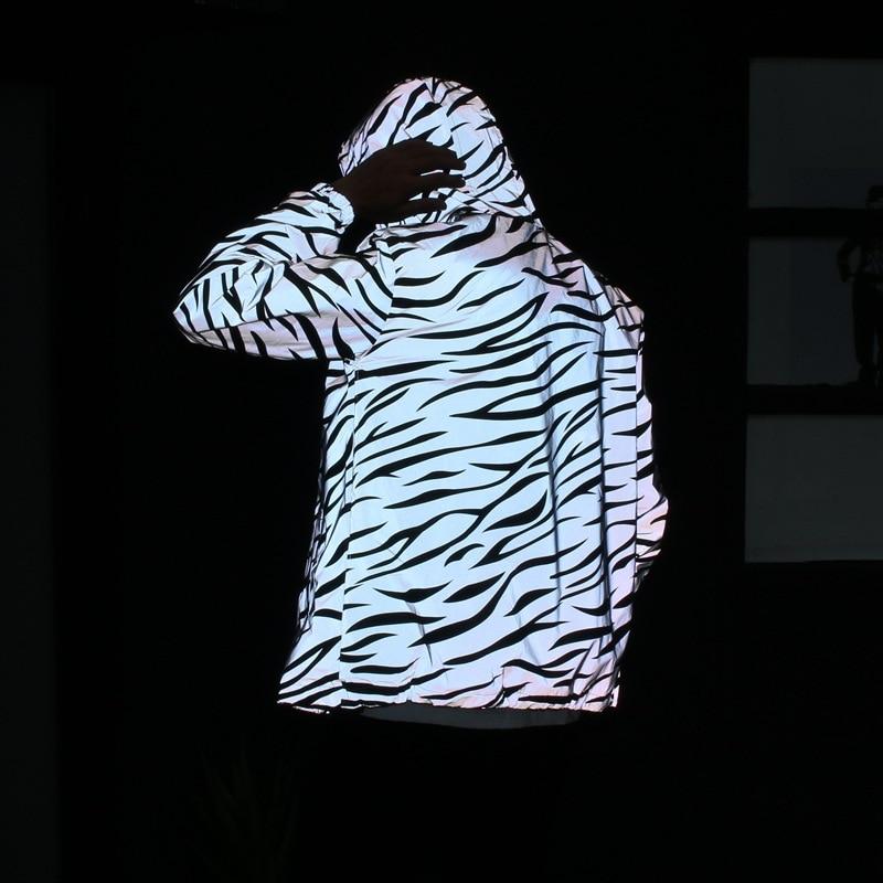 New Men's Autumn Men /women Windbreaker 3m Reflective Jacket Casual Hip Hop Hooded Coats Streetwear Night Shiny Harajuku Jackets