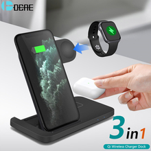 15W Qi Wireless ChargerสำหรับiPhone 12 11 XS XR X 8 3 In 1 Fast Charging DockสถานีสำหรับAppleนาฬิกาIwatch 6 SE 5 4 3 2