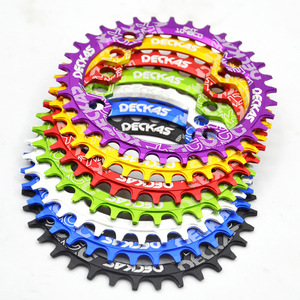 Deckas 104BCD Round Narrow Wide MTB Mountain Bicycle 32T 34T 36T 38T Crown Crankset Single Tooth Plate Parts 104 BCD(China)