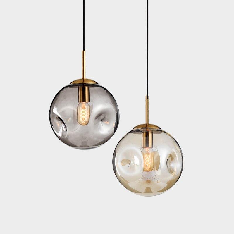 Simple Modern Creative Light Luxury Bump Glass Ball Chandelier American Art Restaurant Designer Model Room Lighting