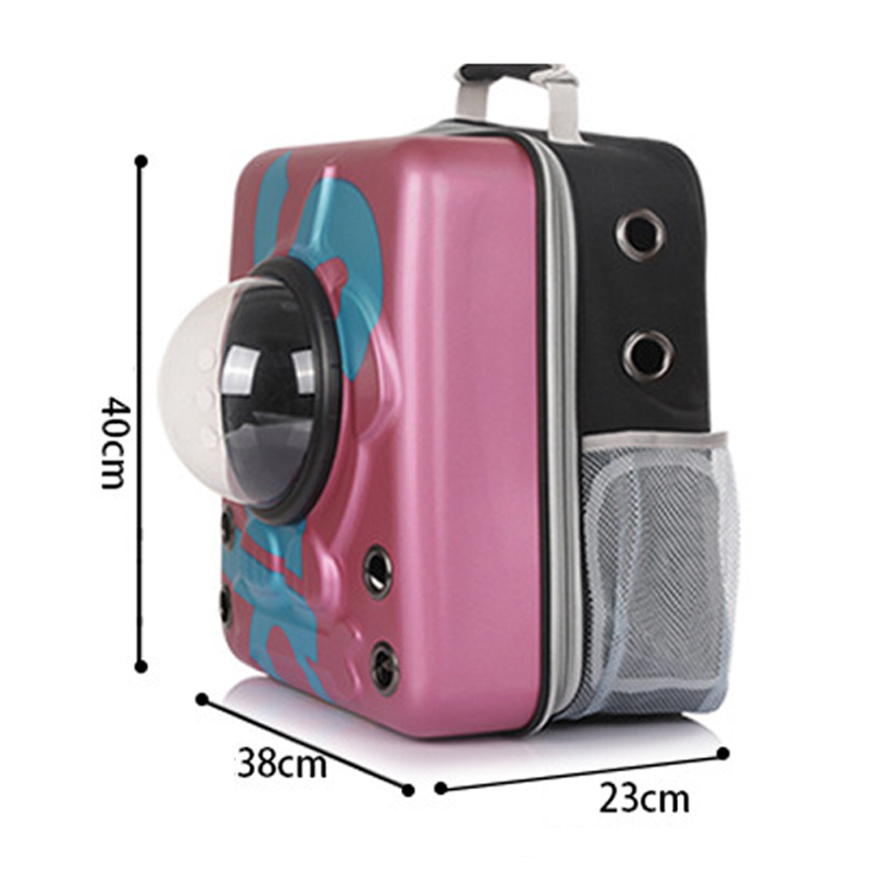Petshy Transparent Pet Cat Carrier Backpack Window Bags Travel Space Capsule Cats Puppy Carrying Bag Astronaut Cat Transport Box