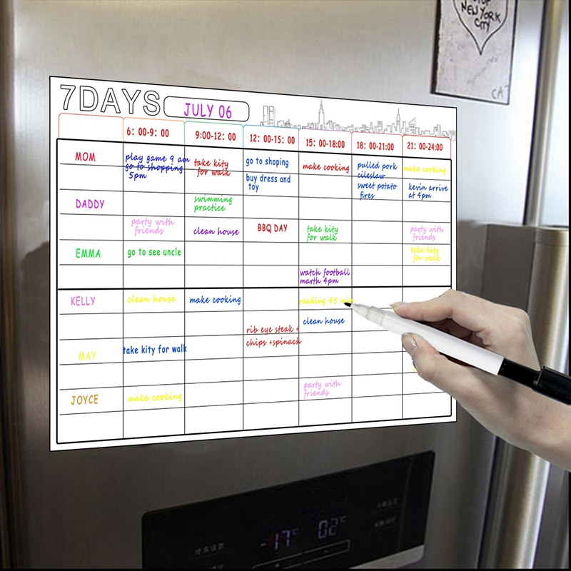 A3 Magnetic Whiteboard Dry Erase Calendar Set 16X12Inch Whiteboard Weekly Planner For Refrigerator Fridge Kitchen Home
