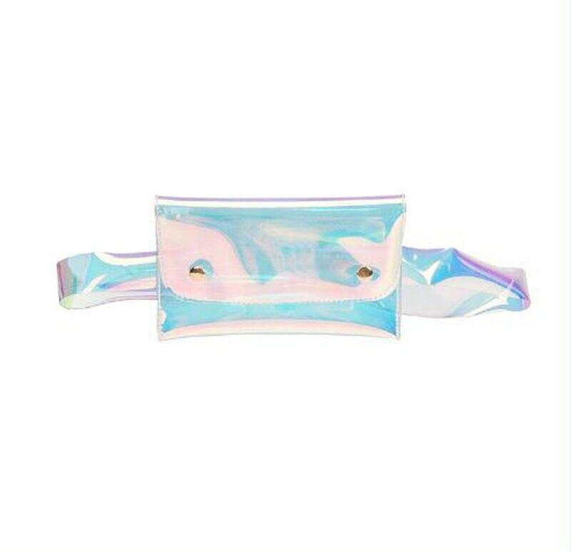 Women Waist Bag Transparent Laser Bags  Fanny Pack Jelly Chest Bag Summer Shoulder Bags /BY