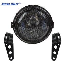 6.5 Cal reflektor led motocyklowy żarówka reflektora dla Harley Sportster Suzuki cafe racer Cruisers Choppers motocykle| |   -