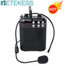RETEKESS TR619 Megaphone Portable FM Recording Voice Amplifier Teacher Microphone Speaker with USB TF Card Socket AUX In and Mic