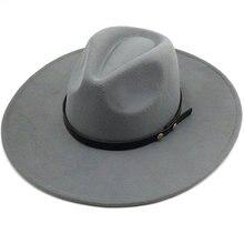 Шляпа с широкими полями черная/серая простая для церкви Дерби