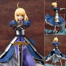 Tronzo 26cm Fate Grand Order FGO Saber Arturia Pendragon Arutoria Knight King PVC Action Figure Model Doll Toys For Christmas