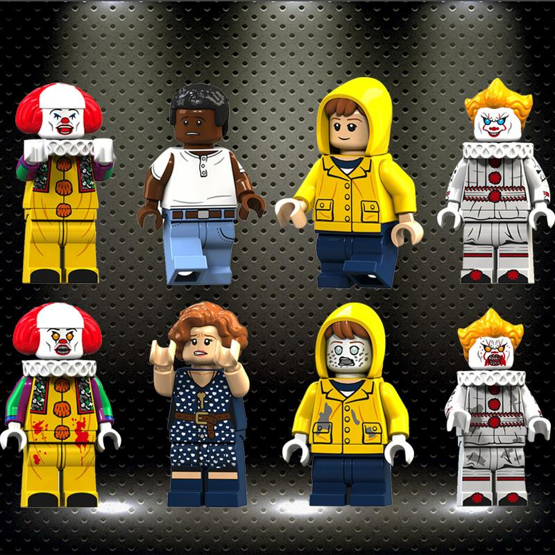 Legoed Pennywise Beverly George Chosen Jacobs Bill Mike Stephen King's It Doll Toy Xmas Gift Building Blocks Toys KT1012