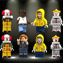 legoed Pennywise Beverly George Chosen Jacobs Bill Mike Stephen King's It Doll Toy Xmas Gift building Blocks Toys KT1012(China)