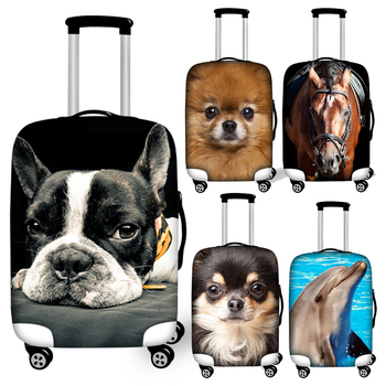 Twoheartsgirl 3d Animal Dog Dolphin Cat Horse Print Luggage Covers Waterproof 18-32inch Travel Suitcase Cover Trolley Case Cover