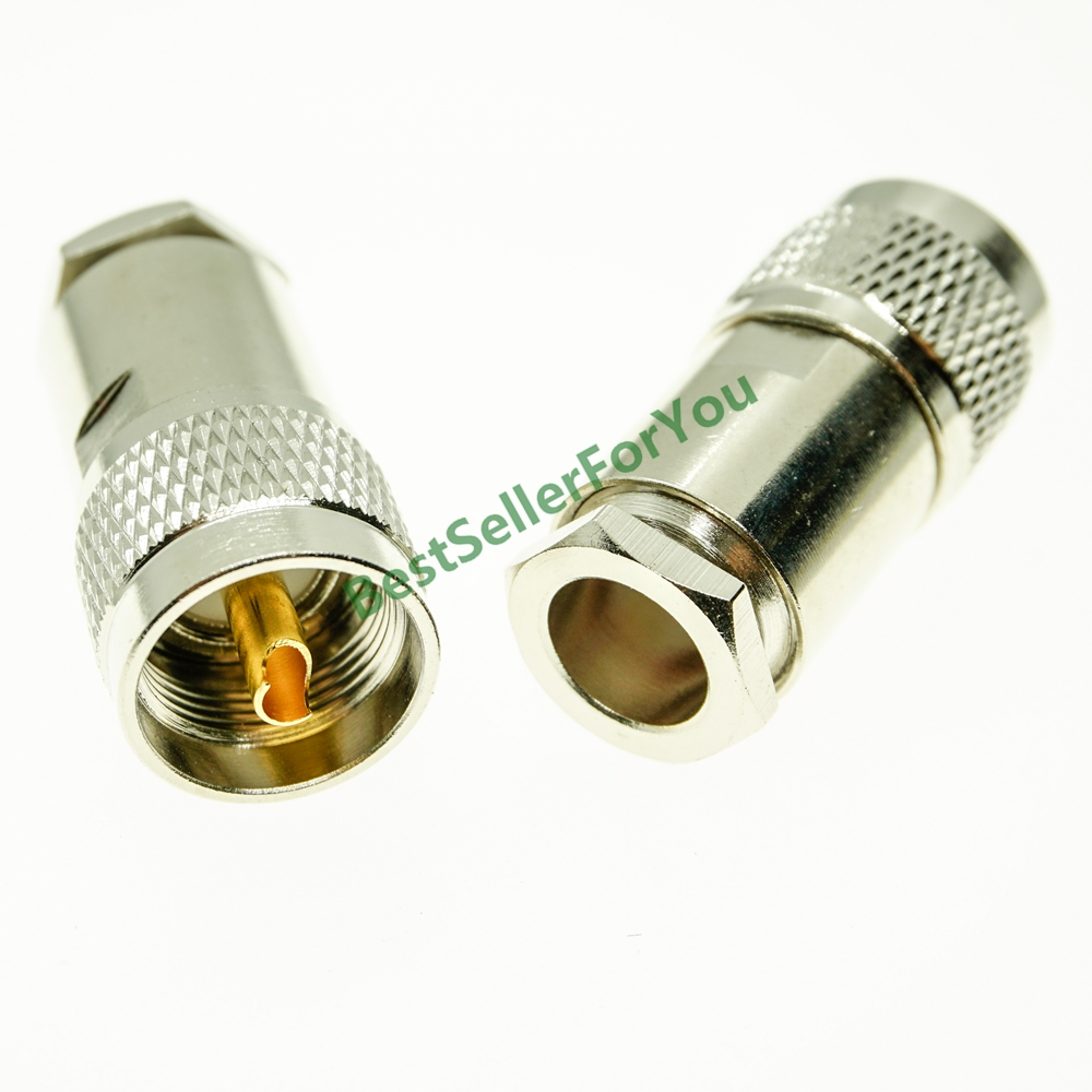 Uhf PL-259 macho pl259 plugue braçadeira para rg8 lmr400 rg165 rg213 cabo rf conector