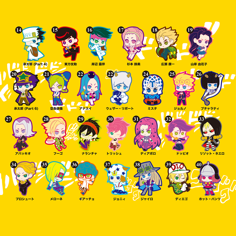 Anime Keychain Jojo's Bizarre Adventure Cartoon Kujo Jotaro GUIDO MISTA Jolyne Cujoh Cosplay Acrylic Keyring Bag Pendant Gifts