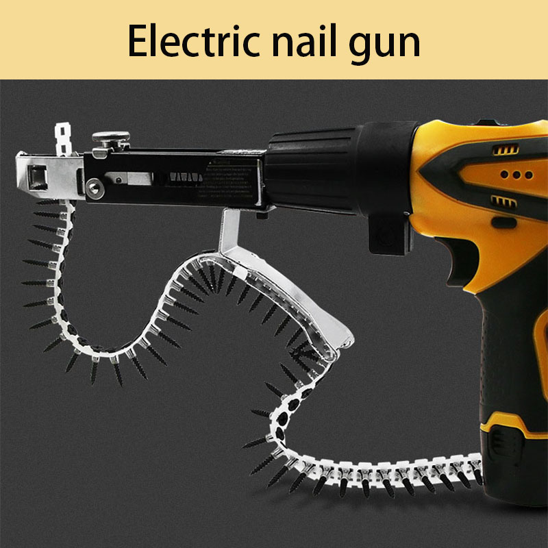 Screwdriver Head Automatic Nail Gun For Electric Chain, Woodworking Gypsum Board
