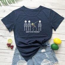 100% algodão citações tumblr gráfico moda casual camiseta topo tshirt colorido ousar ser você mesmo gótico esqueleto camiseta engraçado