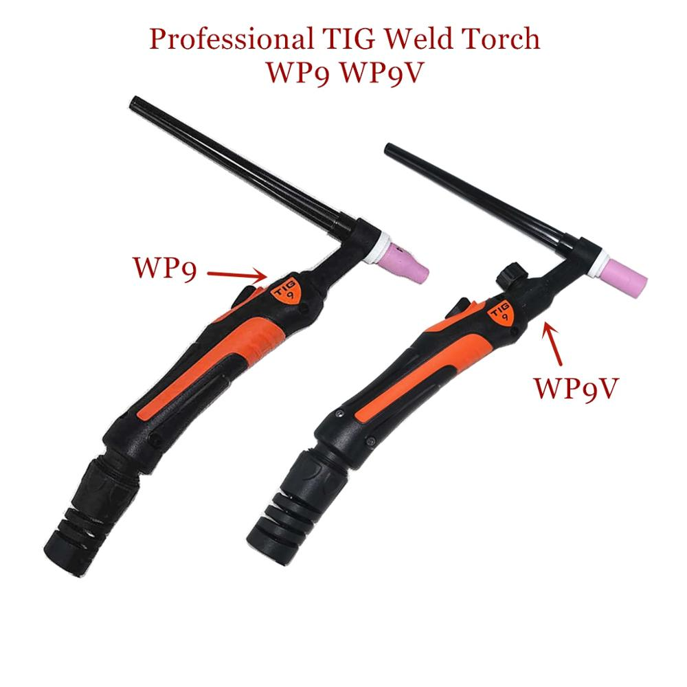 Professional WP9 TIG Torch 120A GTAW Gas Tungsten Arc Welding Gun Argon Air Cooled WP9V Gas Valve TIG Welding Torch