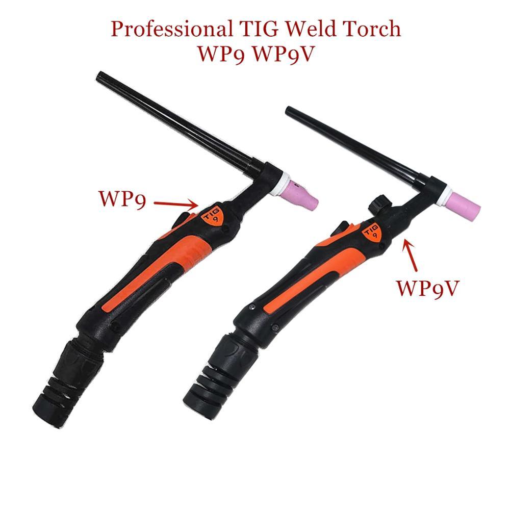Professional WP9 TIG Torch 120A GTAW Gas Tungsten Arc Welding Gun Argon Air Cooled WP9V Gas Valve TIG Welding Torch
