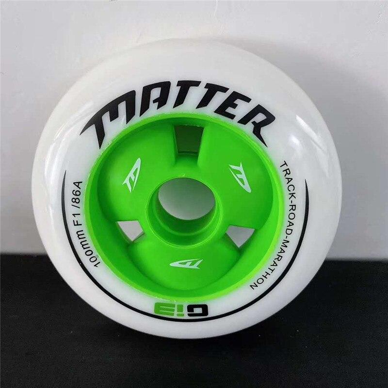 MATTER Gi3 en línea patines de velocidad neumático G13 ruedas para patinaje de velocidad 86A 90mm 100mm 110mm pista camino maratón Race ruedas F1 rueda de velocidad - 2