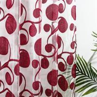 YokiSTG-cortina transparente geométrica circular para sala de estar, dormitorio, cocina, cortinas de tul modernas, tratamiento de ventanas, decoración del hogar
