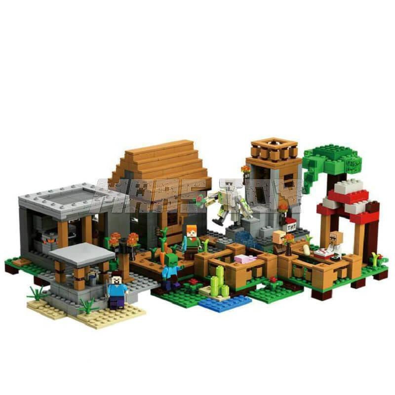 Деревни Special Edition строительные блоки со Стивом жители фигурки Совместимость 21118 Наборы кубиков игрушки