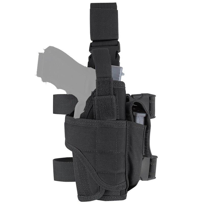 Adjustable Tactical Hunting Right Handed Leg Pistol Gun Pouch Holder Drop Leg Thigh Holster
