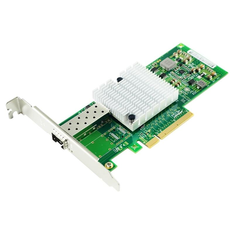 10Gb PCI-E NIC Network Card 82599EN Chipset For Intel X520-DA1 Converged Network Adapter(NIC) Single SFP + Port, PCI Express Eth