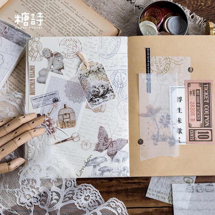30 Buah/Bungkus Kotak Korek Api Baru Hijau Karangan Bunga Perjalanan Bullet Journal Alat Tulis Stiker Scrapbooking DIY Diary Album Tongkat Label