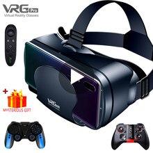 Realidade virtual 3d vr fone de ouvido óculos inteligentes capacete para smartphones celular móvel 7 polegadas lentes binóculos com controladores