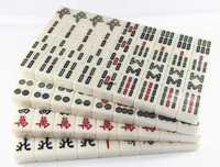 Large Size Wear resistant Household Hand rubbing Mahjong Board Games for Adults White Mahjong Entertainment